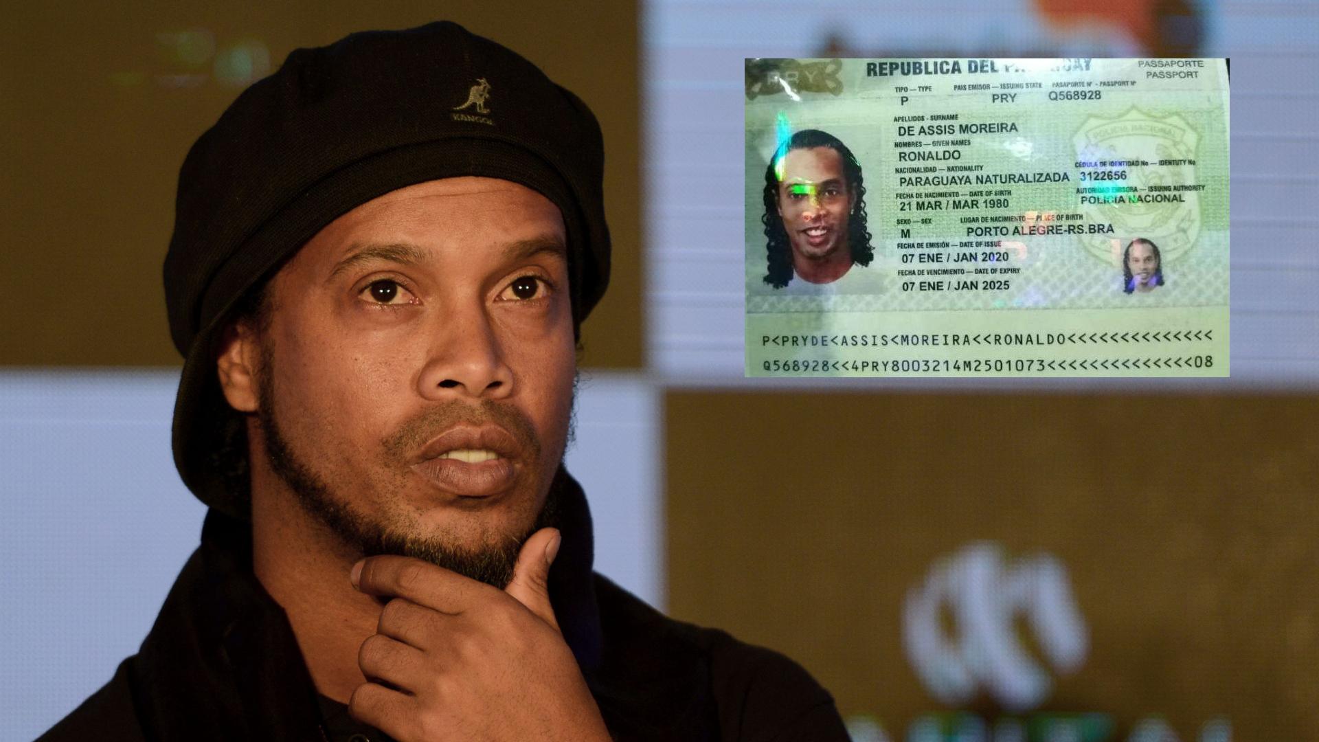Ronaldinho arrêté par la police paraguayenne avec des faux passeports