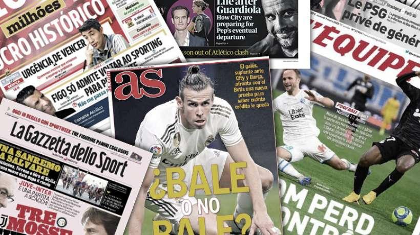 Le spectre d'un départ de Pep Guardiola affole l'Angleterre, la dernière chance de Gareth Bale au Real Madrid