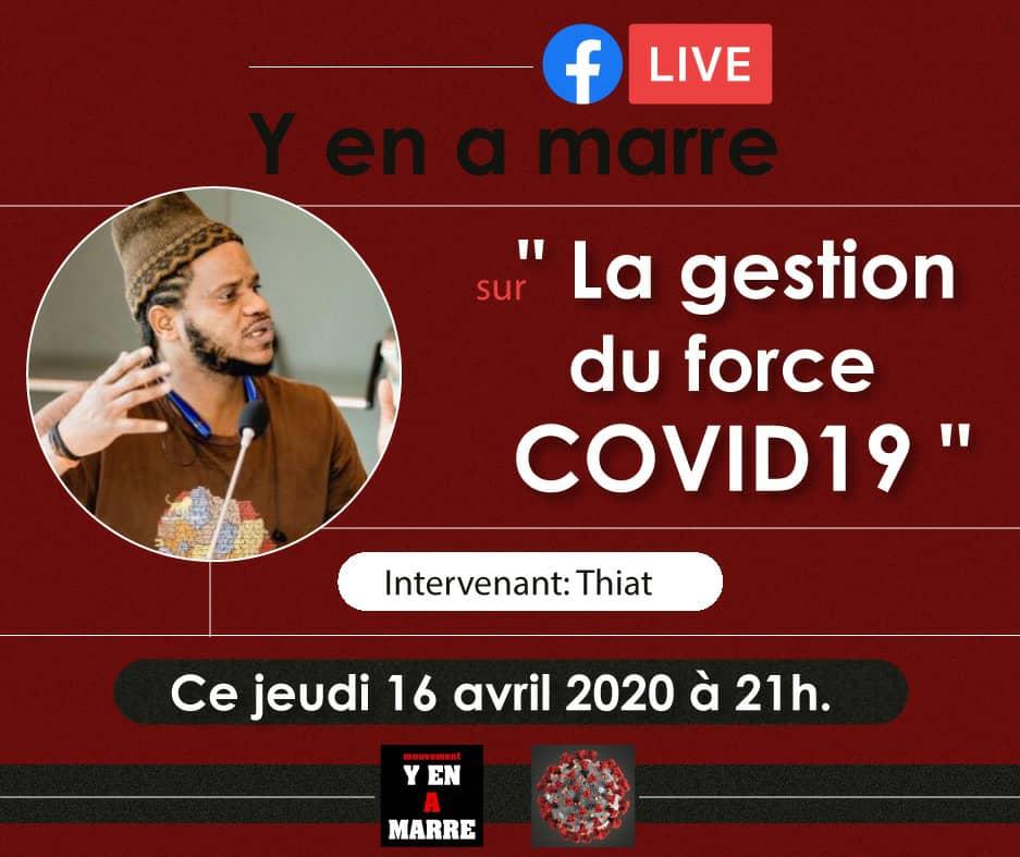 Le mouvement Y'en A Marre en Live sur les RS ce jeudi soir pour s'exprimer sur la polémique née de la gestion Covid-19 au Sénégal
