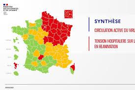 Coronavirus : rouge, orange ou vert, la carte des départements de France