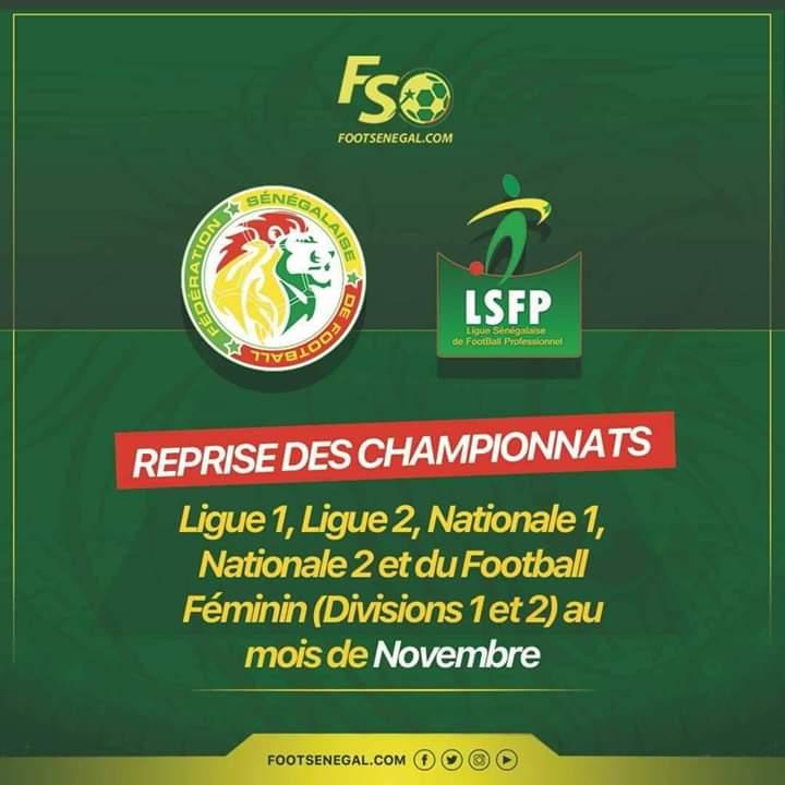 #Covid-19: la reprise des championnats nationaux de football prévue au mois de novembre