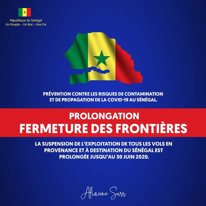 Coronavirus : au Sénégal, la fermeture des frontières aériennes prolongée jusqu'au 30 juin