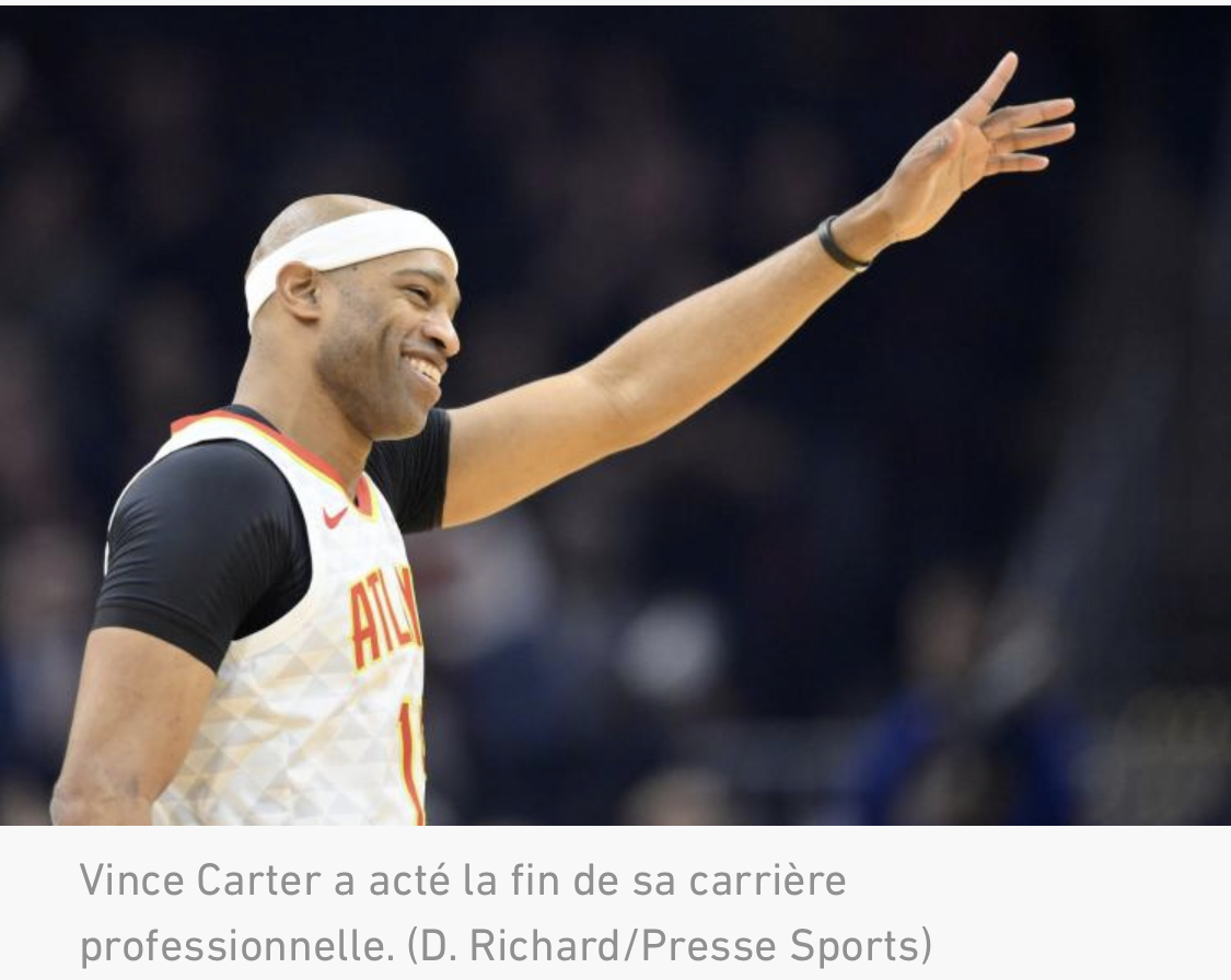 NBA : Vince Carter officialise sa retraite à 43 ans