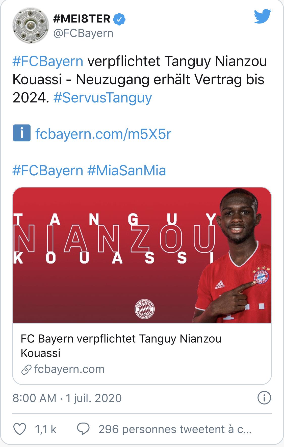 Officiel ! Tanguy Kouassi signe au Bayern