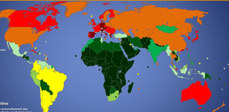 Population mondiale: Nous serons 8,8 milliards d'humains en 2100, moins qu'estimé par l'Onu