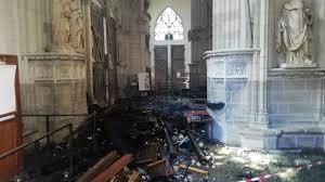 Incendie dans la cathédrale de Nantes : un bénévole du diocèse en garde à vue
