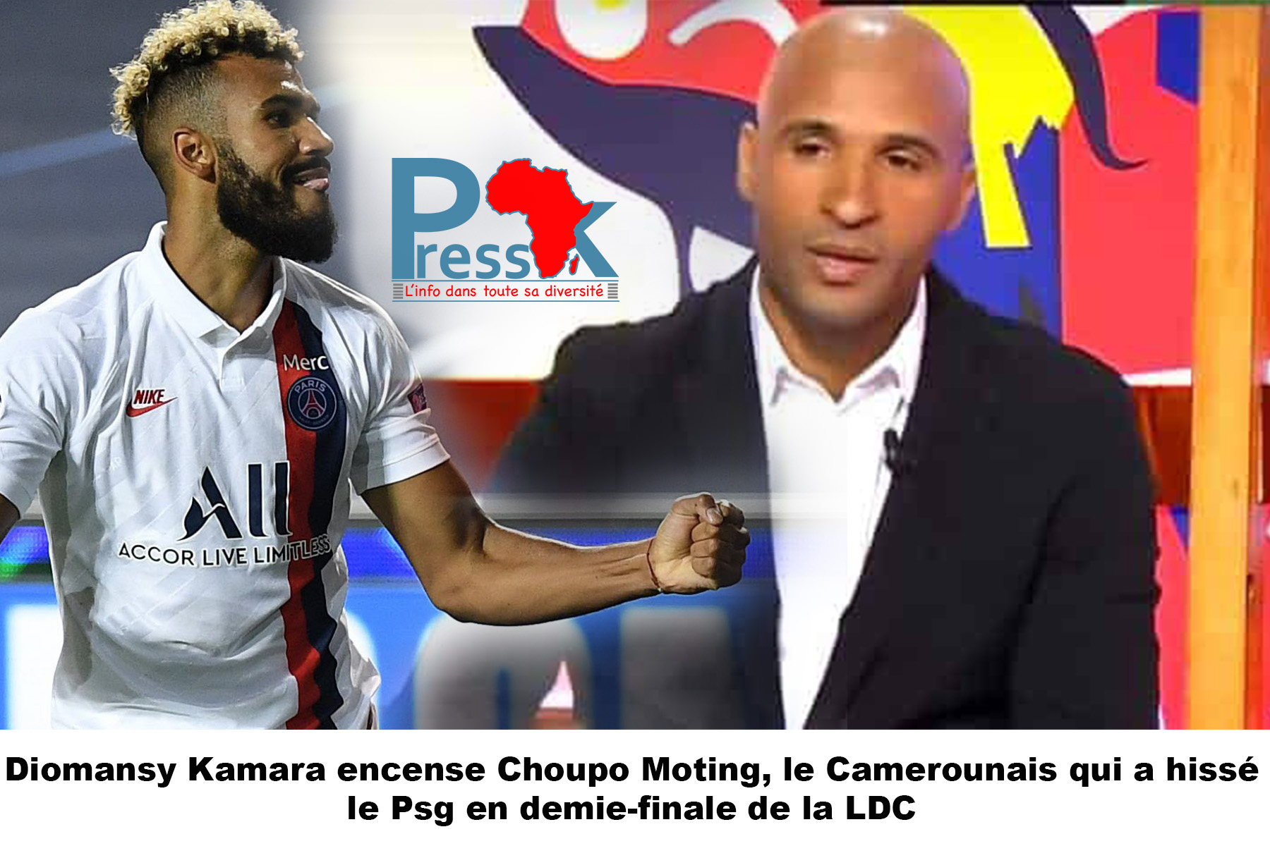 Qualification PSG en demi-finale LDC: Diomansy Kamara encense Choupo Moting et descend ses détracteurs
