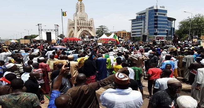 Rassemblement du M5 à Bamako pour «fêter la victoire du peuple malien»