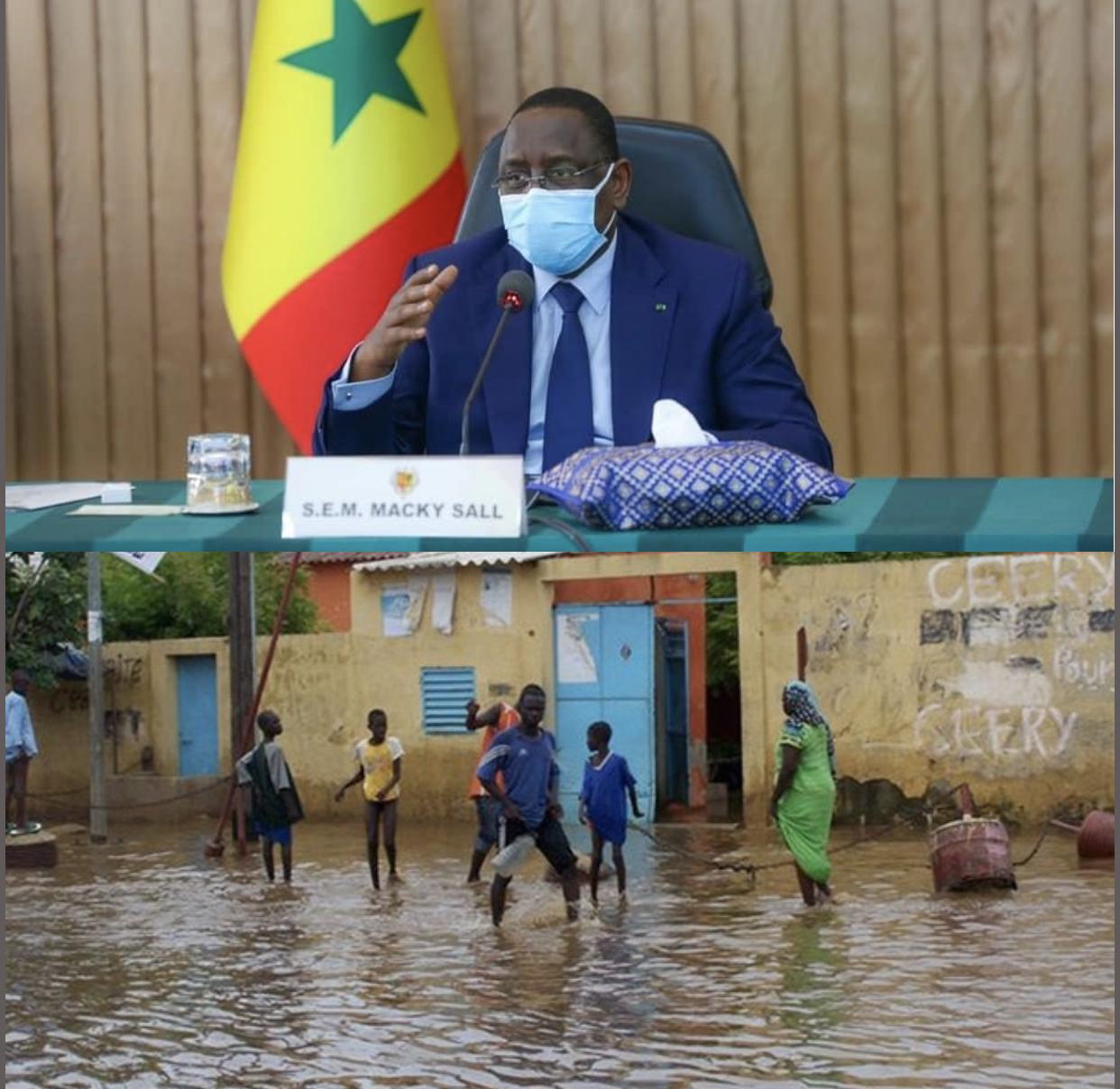 #Inondations - Macky accuse les changements climatiques, défend son Plan décennal et appelle les Sénégalais «à s'adapter»