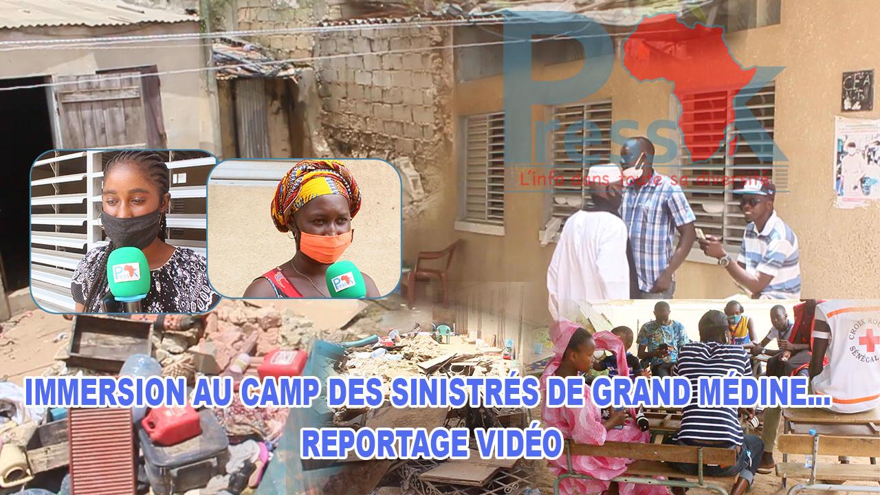 Immersion à l'école de Grand Médine... les éclaireurs, la Croix rouge et des volontaires au chevet des sinistrés. Reportage !