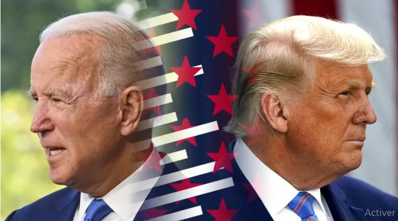 Joe Biden et Donald Trump. Studio Graphique FMM