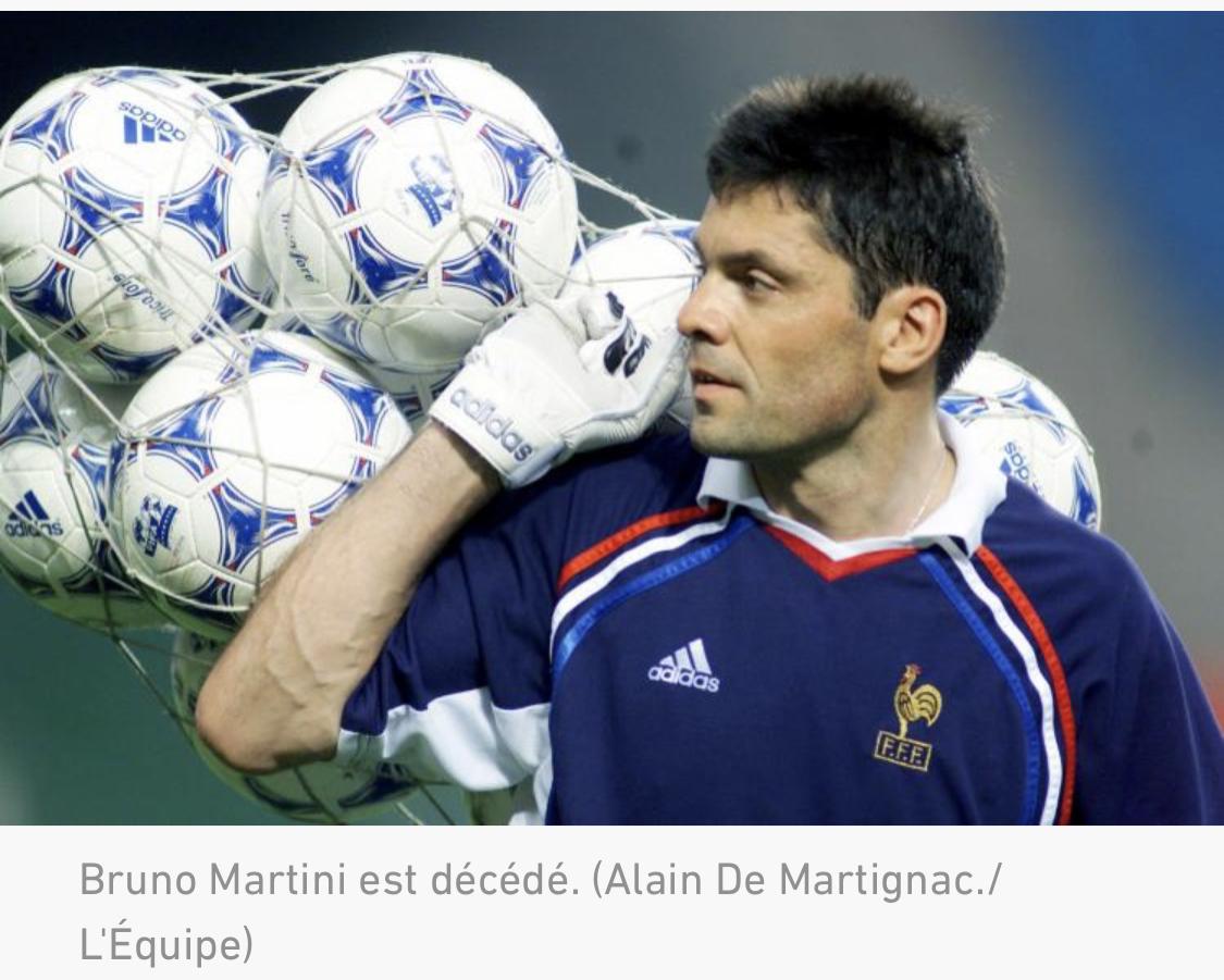 Bruno Martini, ancien gardien d'Auxerre et de l'équipe de France, est mort