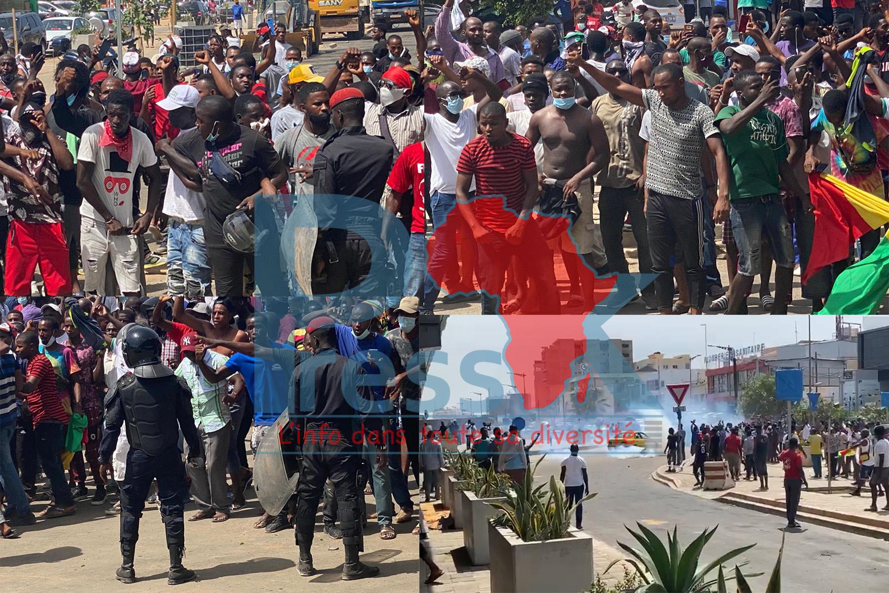 Dakar: des Guinéens contestent les résultats de la CENI et affrontent les forces de l'ordre devant leur ambassade