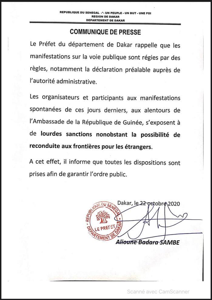 Le Préfet de Dakar peut-il expulser les ressortissants guinéens après le traité 2016 de la CEDEAO ?
