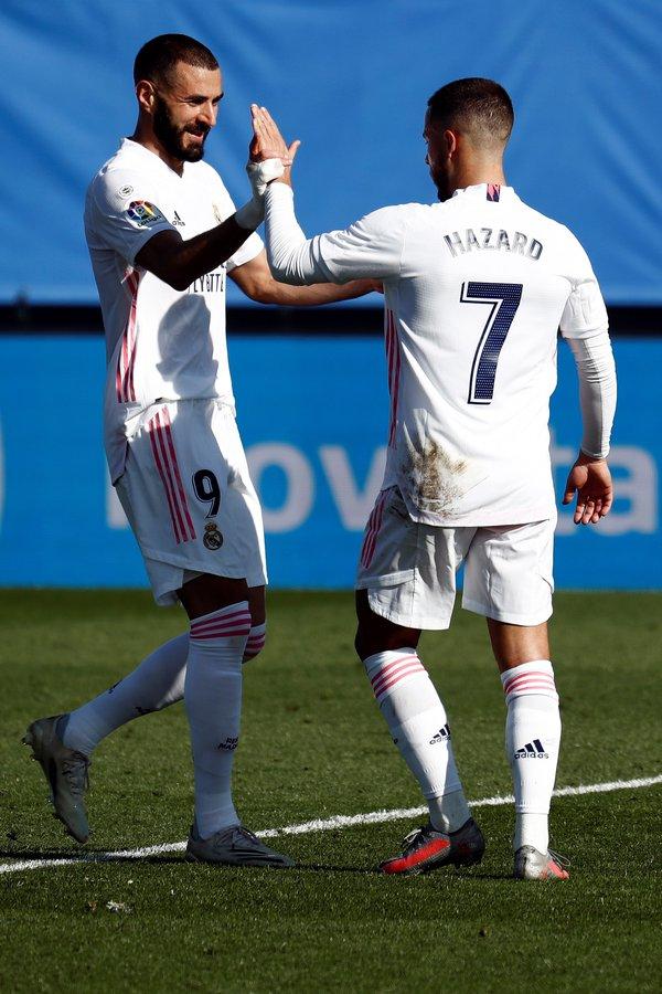 Liga: Eden Hazard met fin à sa longue disette, le Réal s'impose et prend la tête du championnat