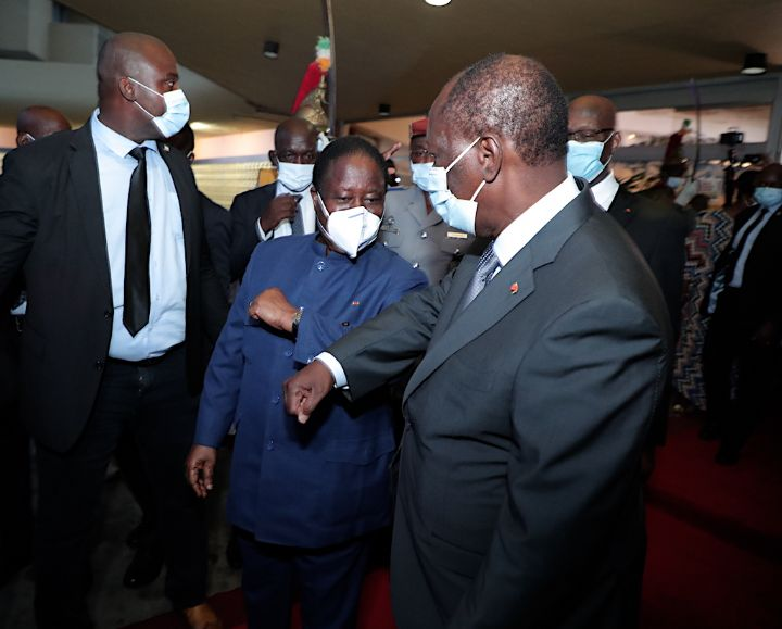 Crise post-électorale en Côte-d'Ivoire : entretien 'fraternel' entre Ouattara et Bédié