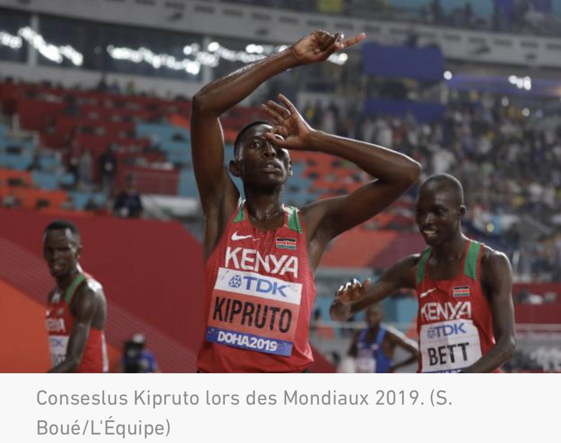 Le champion olympique kényan Conseslus Kipruto risque 20 ans de prison