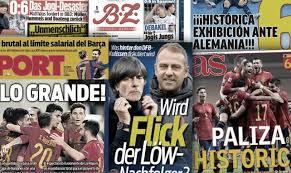 L'Allemagne veut la peau de Joachim Löw, l'Espagne s'enflamme après la gifle historique contre la Mannschaft