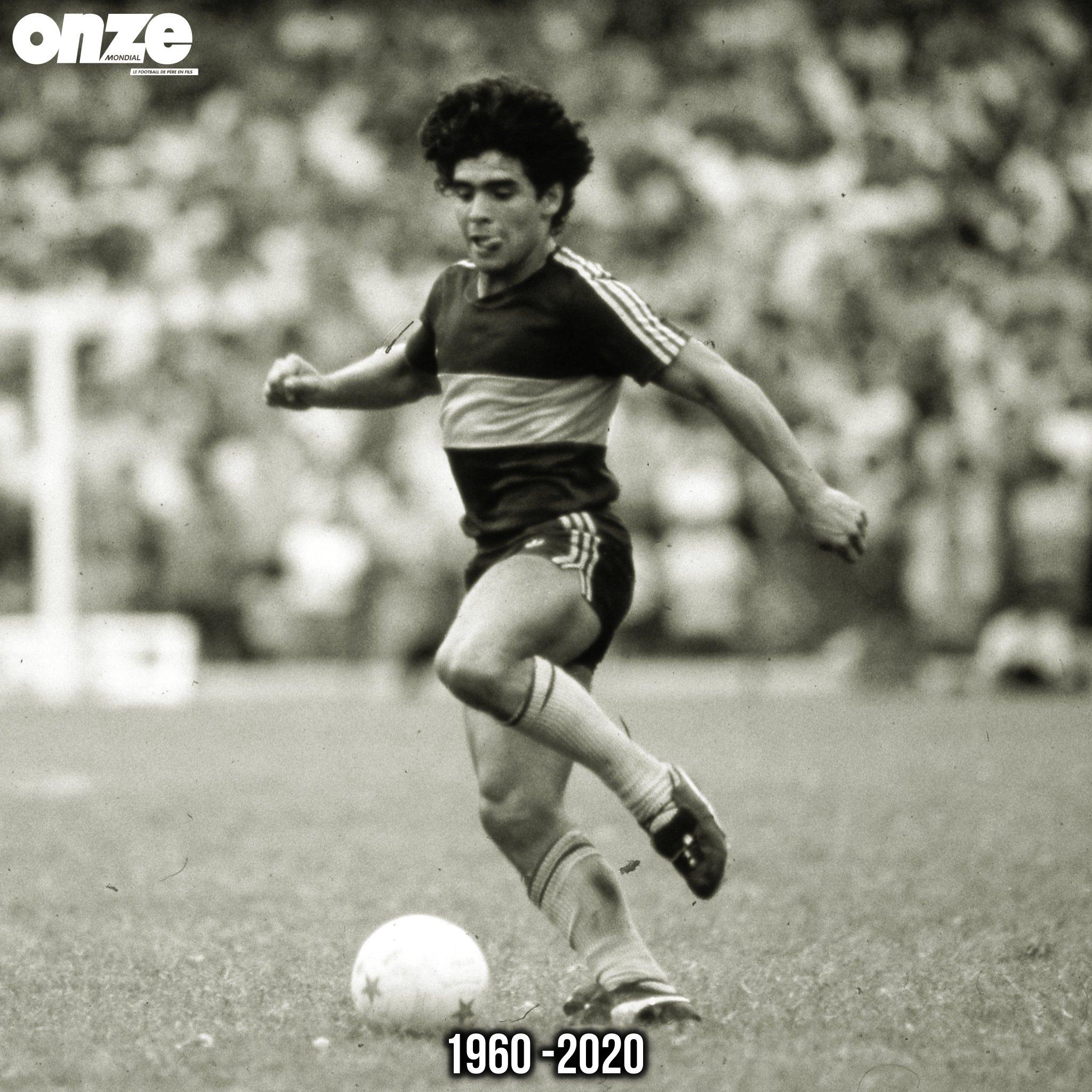 La légende du football Maradona n'est plus