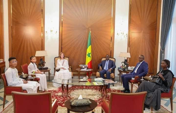 Marion Diop et les deux enfants de Pape Bouba reçus au Palais