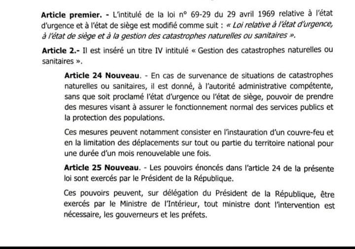 Modification de la loi relative à l'état d'urgence: ce que dit le projet de loi (Document)