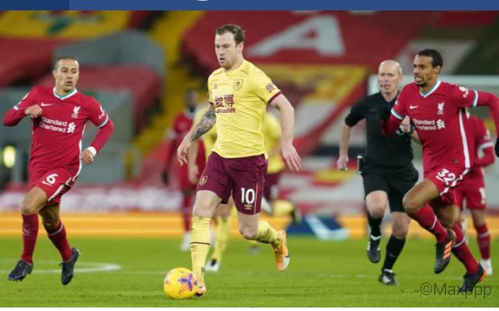 PL : Liverpool surpris par Burnley à Anfield 1-0