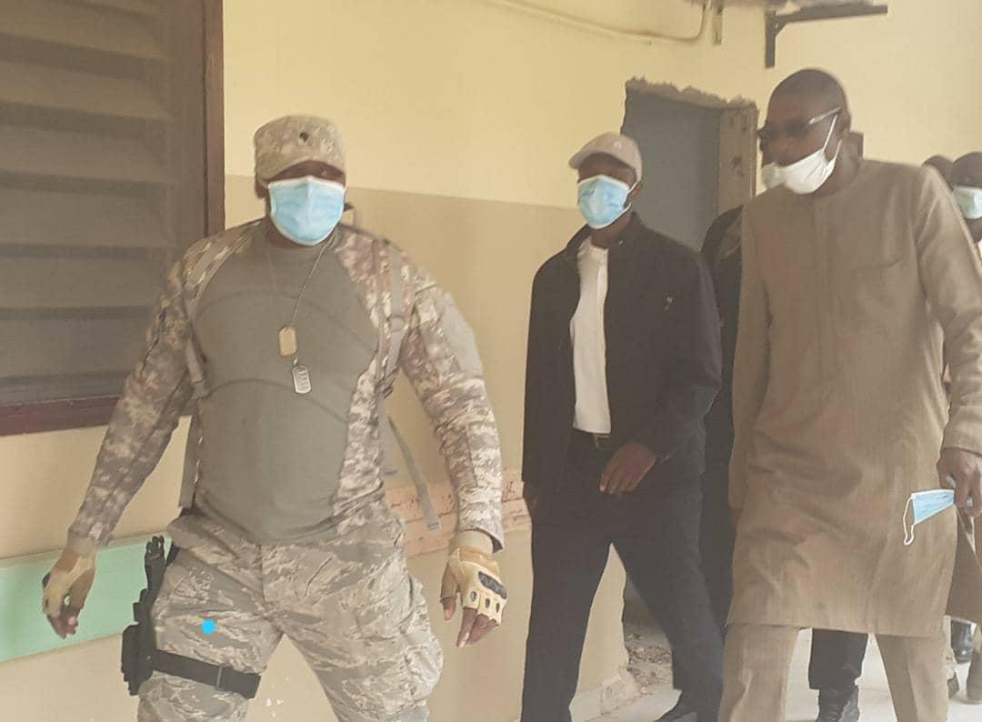 Ousmane Sonko à l'hôpital Idrissa Pouye de Grand-Yoff