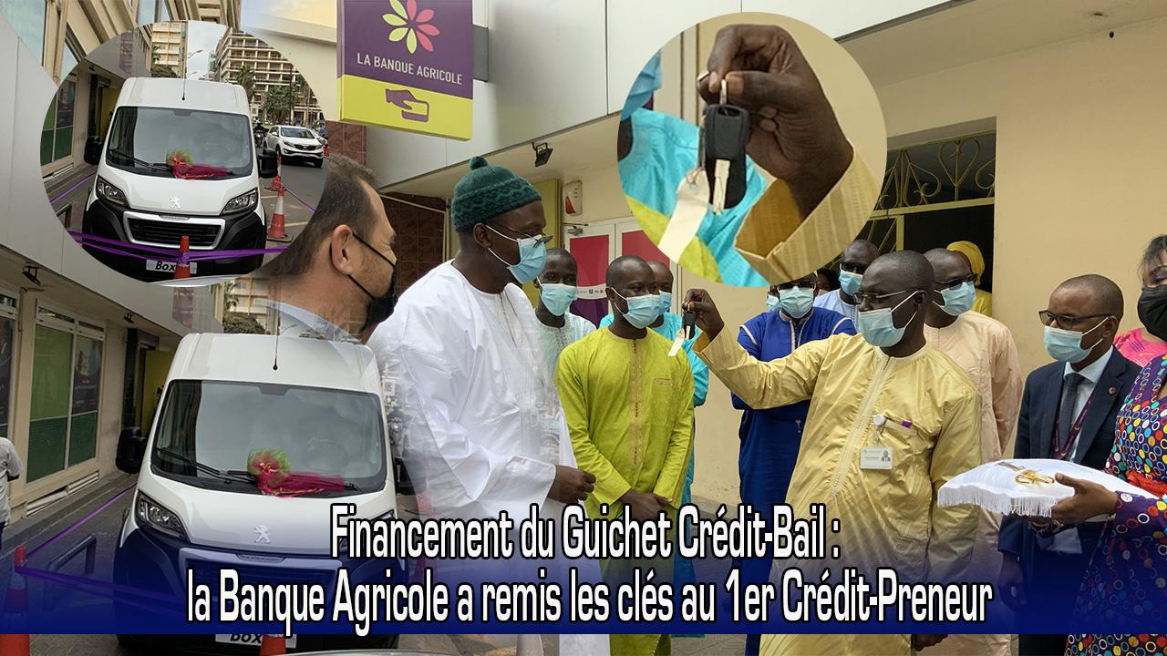 Remise de clefs au 1er Crédit-Preneur du Guichet Crédit-Bail de La Banque Agricole