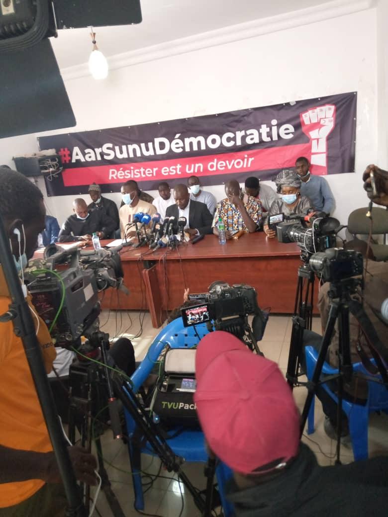 """Arrestation d'Ousmane Sonko : """"Aar sunu démocratie"""" créé pour ressusciter """"le Mouvement du 23 juin"""""""
