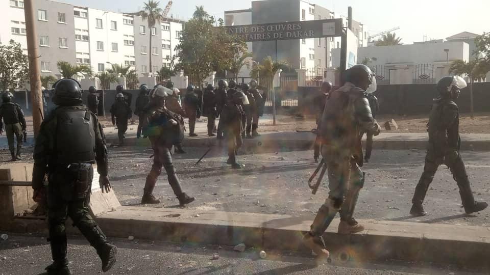 Affrontement à l'Ucad: le Groupement mobile d'intervention vient en renfort aux policiers