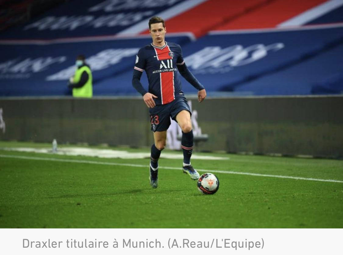 La composition du PSG contre le Bayern en Ligue des champions : avec Dagba et Draxler