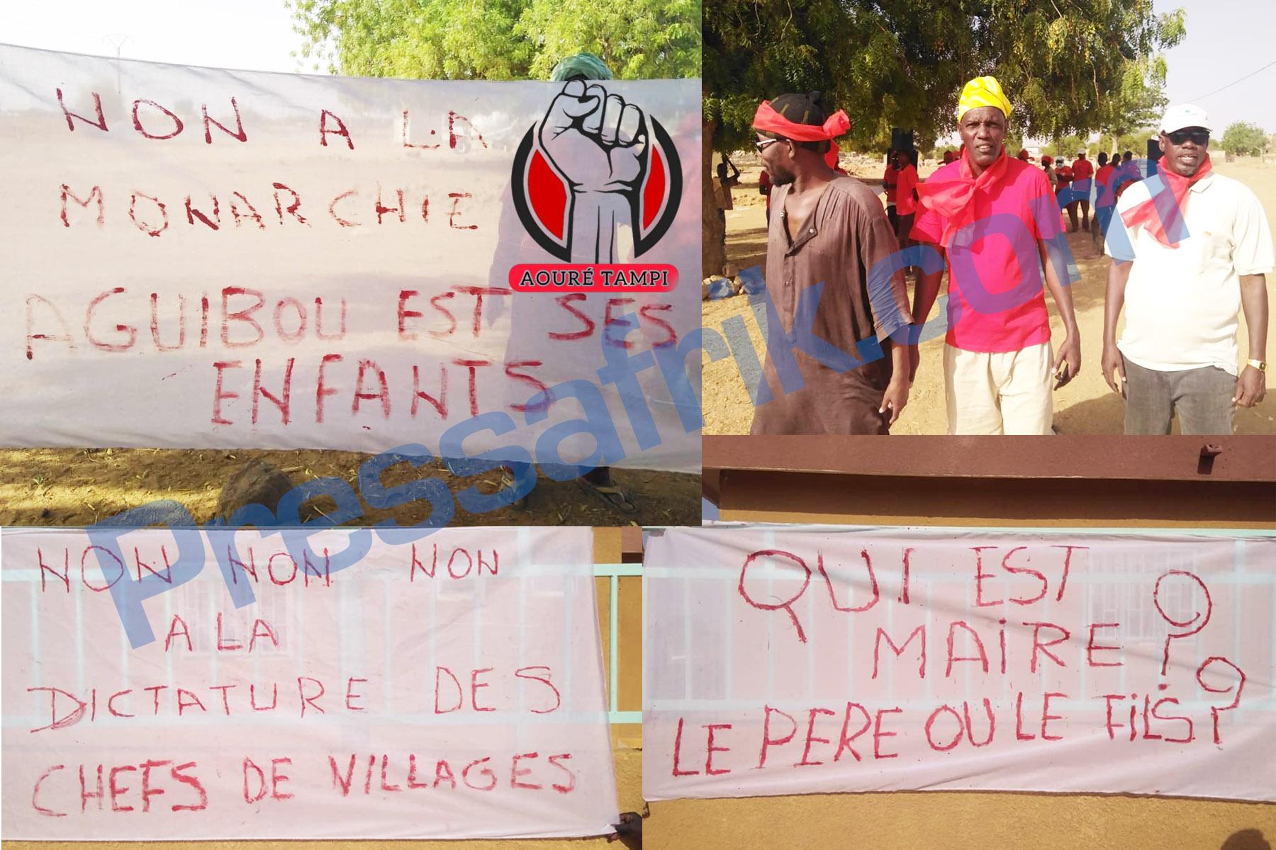 Matam : des jeunes de Aouré, dans la rue pour dénoncer les agissements du maire