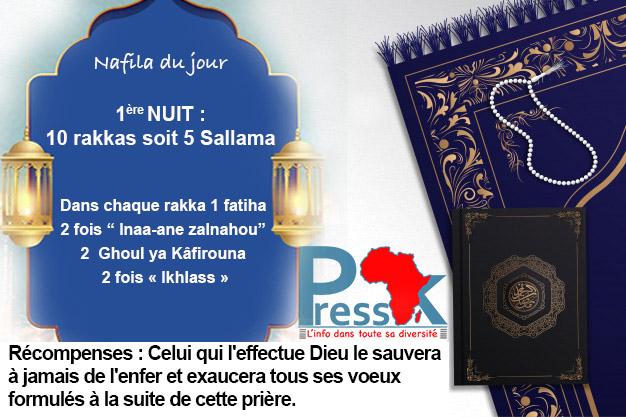 """Ramadan-Nafila de la 1ère nuit  : 10 rakkas pour """"se sauver à jamais de l'enfer"""""""