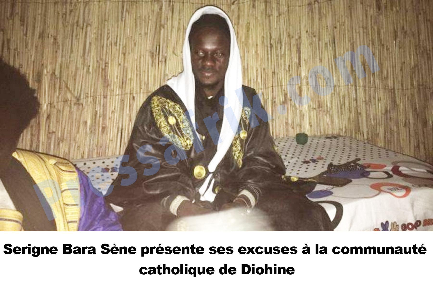 Serigne Bara Sène présente ses excuses à la communauté catholique de Diohine et appelle à la paix