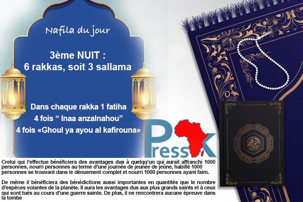 """Ramadan-Nafila de la 3ème NUIT : 6 rakkas pour  """"ne rencontrer aucune épreuve dans la tombe"""""""