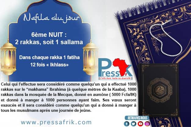 Ramadan-Nafila de la 6éme Nuit : 2 Rakkas pour « ne pas connaître les affres de la mort »