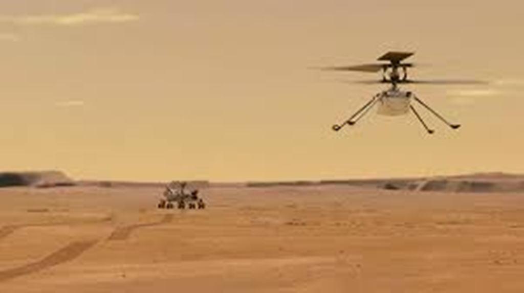 Espace: l'hélicoptère «Ingenuity» a volé sur Mars