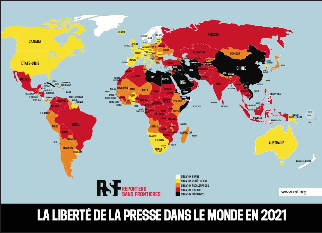 Liberté de presse: le Sénégal perd 2 places