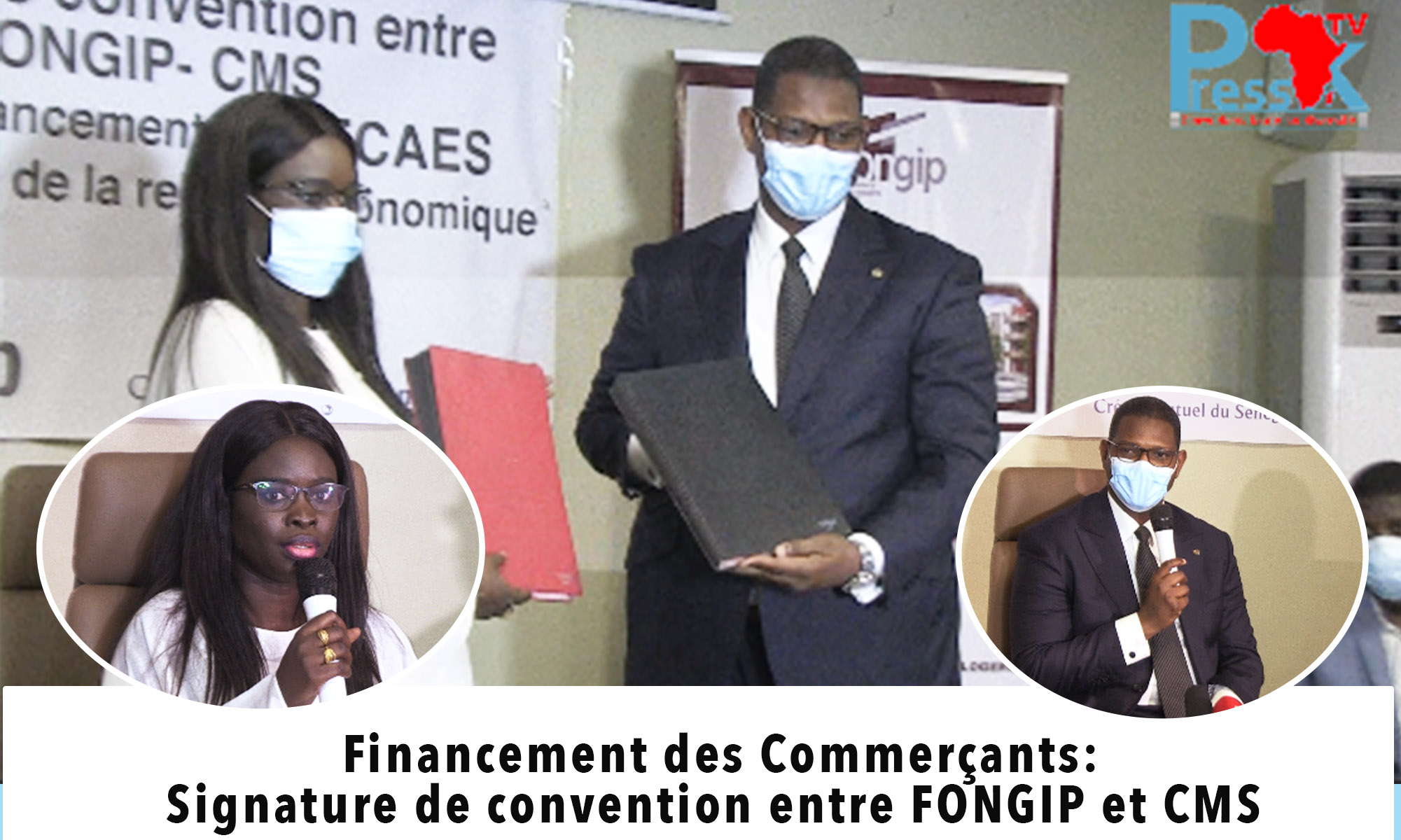 Le FONGIP injecte 100 millions Fcfa au CMS pour financer les marchands ambulants