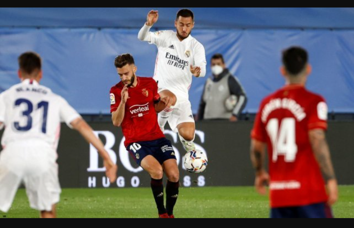 Liga : le Real Madrid vient à bout d'Osasuna et rêve encore du doublé