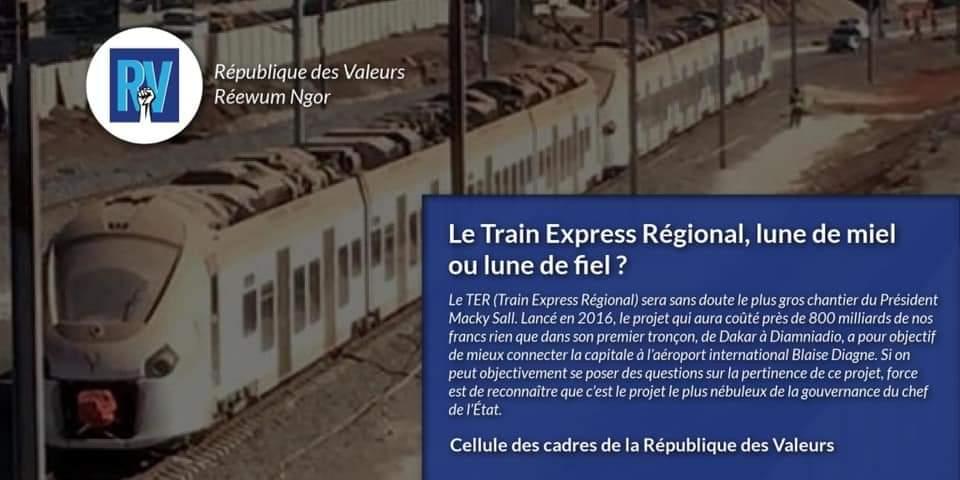 Le Train Express Régional, lune de miel ou lune de fiel ? (République des Valeurs)