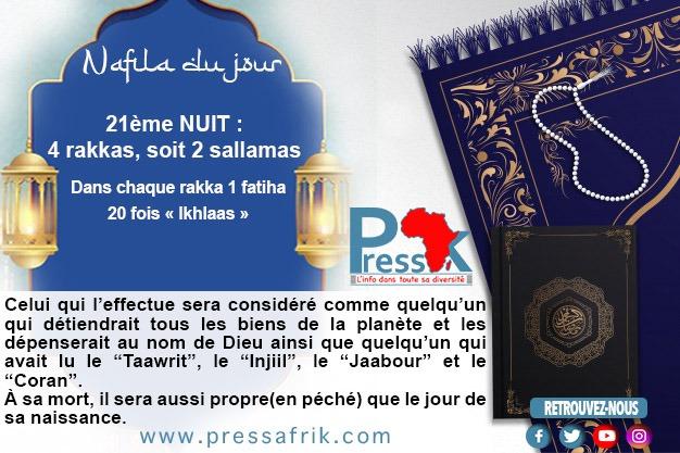 """Ramadan-Nafila de la 21ème NUIT :  4 rakkas pour être """"aussi propre (en péché) que le jour de sa naissance"""""""