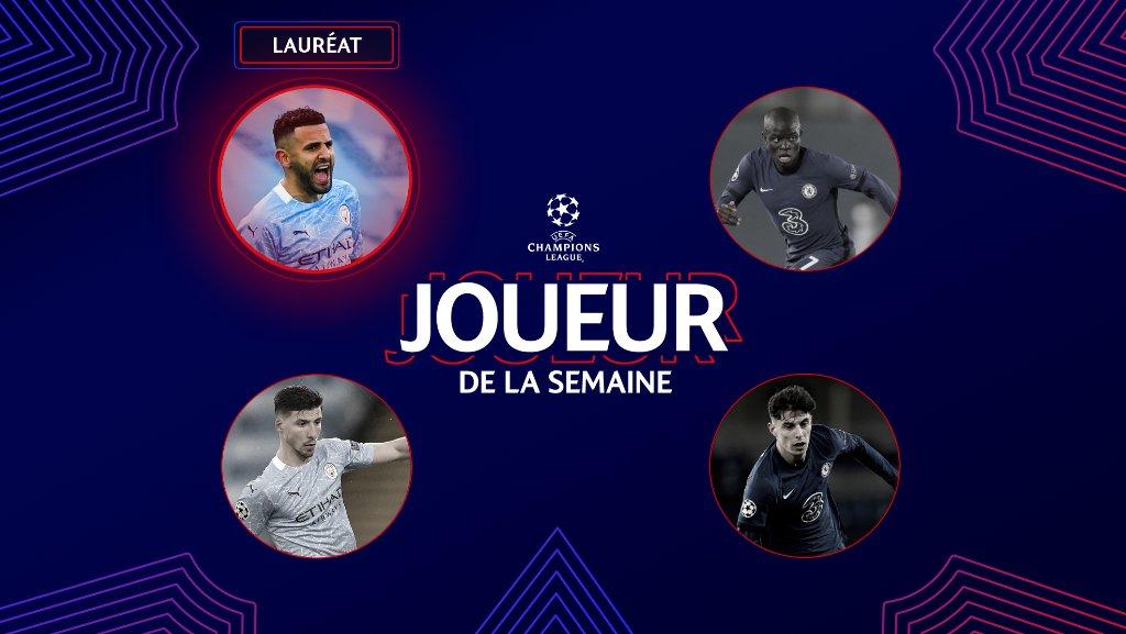 Ligue des champions: Riyad Mahrez élu joueur de la semaine
