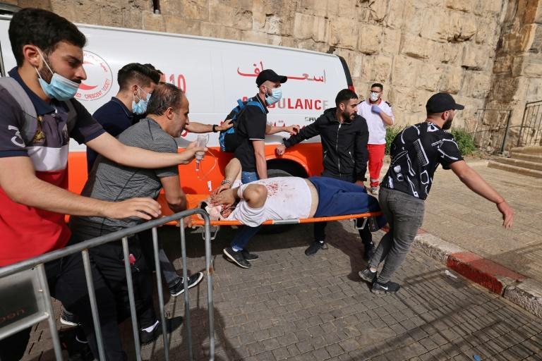 Jérusalem: des «centaines de blessés» dans des heurts sur l'esplanade des Mosquées (secouristes)
