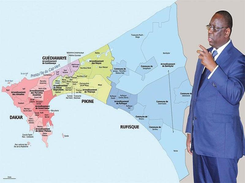 Projet de découpage: Vers un chamboulement de la région de Dakar