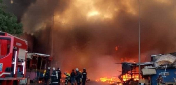 35 maisons emportées par un violent incendie à Médina Khoudoss