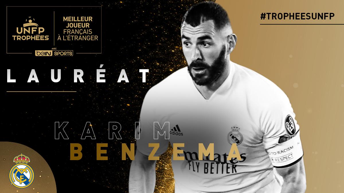 Trophées UNFP: Benzema élu meilleur joueur français de l'étranger