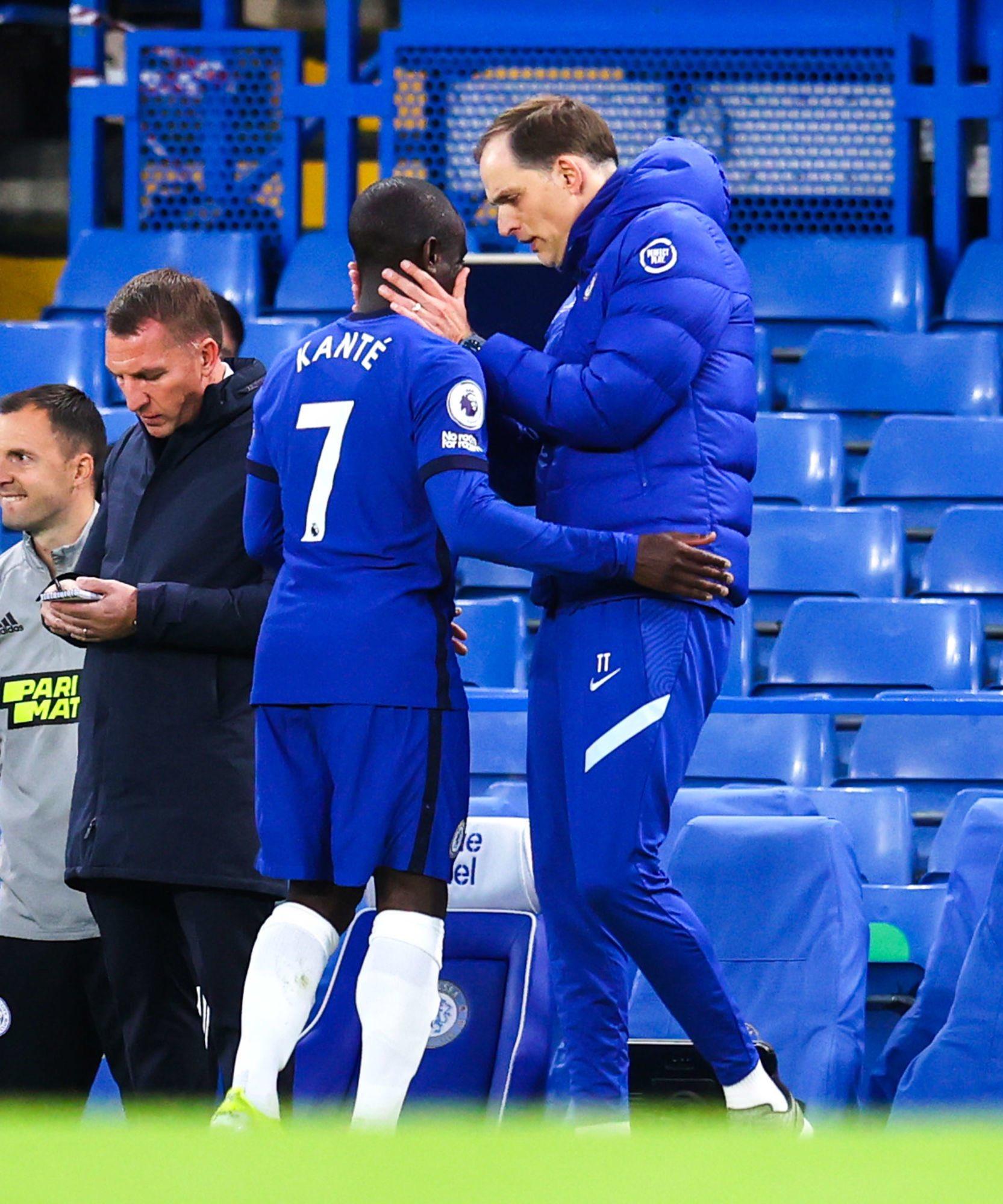 Chelsea: N'Golo Kanté sort dès la demi-heure de jeu contre Leicester