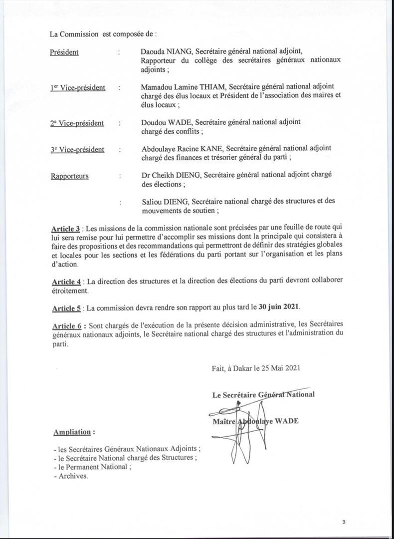 Préparation des élections locales 2022 : Le Pds met en place une Commission nationale (Document)
