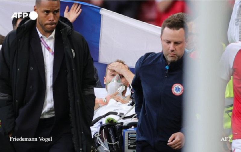 Euro 2021: Christian Eriksen «éveillé» et dans un état «stable» après son malaise lors du match Danemark-Finlande